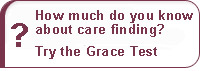 How much do you know about care finding? Try the Grace Care Test.
